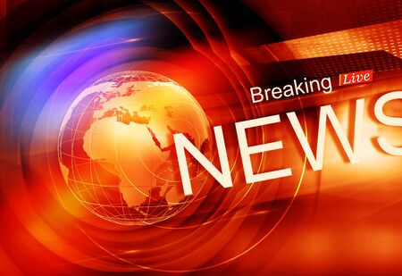 Graphical Colorful Live Breaking News Background. 3d render, 3d illustration
