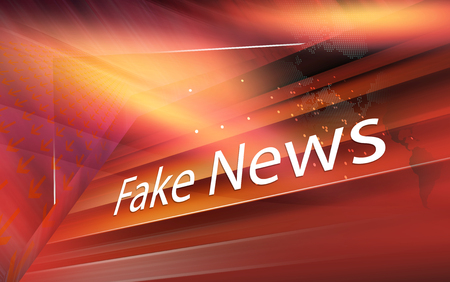 Graphical digital fake news background with arrows and news text. 3d render, 3d illustration Stock Photo