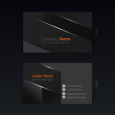 Business card geometric design concept, Vector Illustration