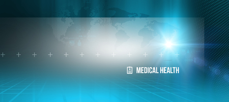 Abstract medical health background, suitable for health care and medical news topics Stock Photo