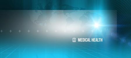 Abstracte medische gezondheidsachtergrond, geschikt voor gezondheidszorg en medisch nieuwsonderwerpen Stockfoto