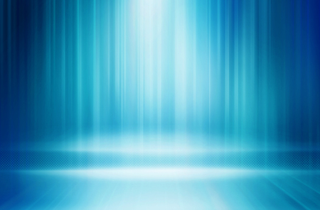 Graphical abstract technology background, light rays on blue background.