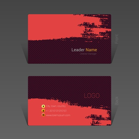 Brush stroke business card design concept, Vector Illustration