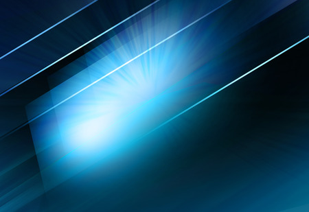 Graphical abstract blue screen with lines and light rays background.  Stock Photo