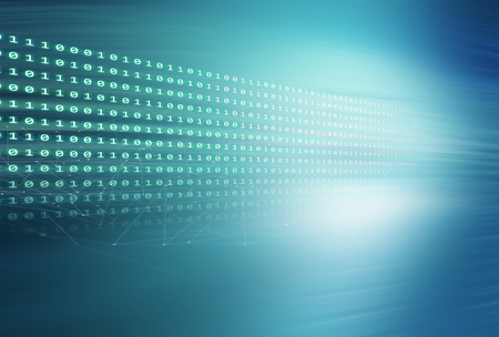 Digital binary codes blue theme background.