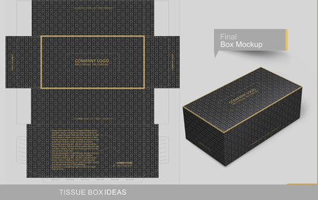 Abstract dark gray seamless pattern tissue box concept, template for business purpose, place your text and Logos and ready to go for print.