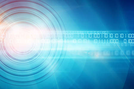 Growing digital technology with binary codes, futuristic digital background.
