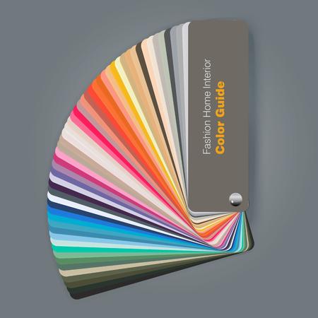 Illustration of color palette guide for fashion interior designer, vector illustration Ilustração Vetorial