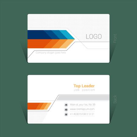 Business card design concept Ilustrace