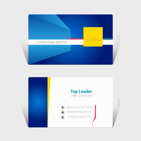 Business card design concept Иллюстрация