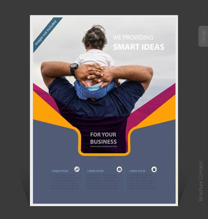Abstract business brochure template 2019 cover design, flyer-Vector Illustration