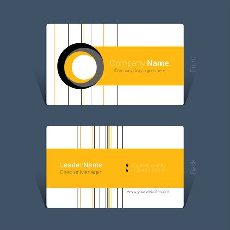 Business card design yellow and black colors concept , Vector Illustration