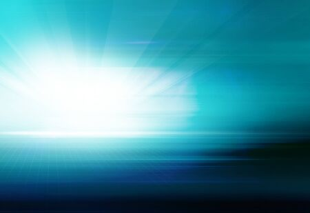 Abstract high tech background with ground and light rays from left side. 3d Illustration Banco de Imagens