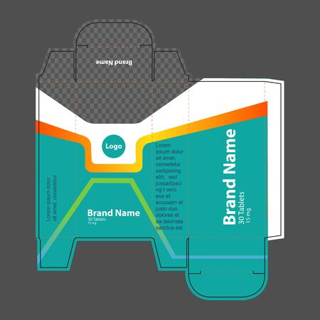 Medicine packaging box idea, packaging template concept, template for business purpose, place your text and logos and ready to go for print.