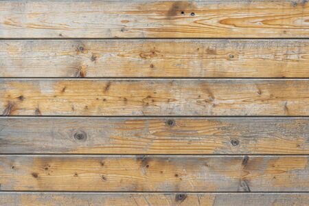Weathered wooden texture, natural  building wall boards texture. Horizontal shot