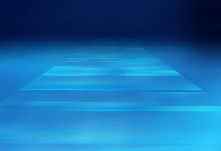 Graphical abstract technology background, multiple transparent surfaces going to depth