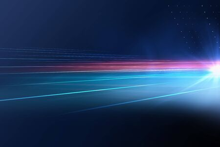 Digitaler abstrakter Technologiehintergrund mit Lichtstrahlen und Sonneneruption Standard-Bild