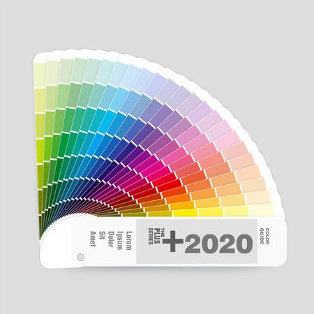Illustration of RGB colors palette guide for graphic and web design, vector illustration