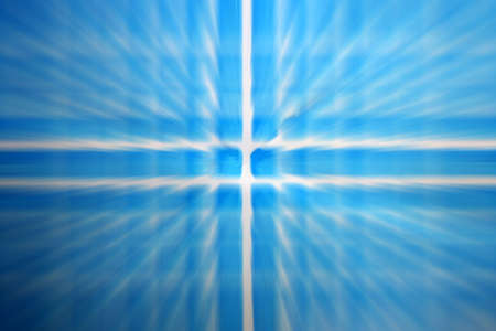Zoom blue and white cross abstract Stock Photo - 3562615