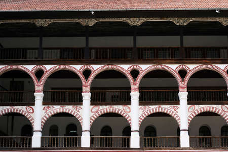Terraces in bulgarian Rila monastery photo