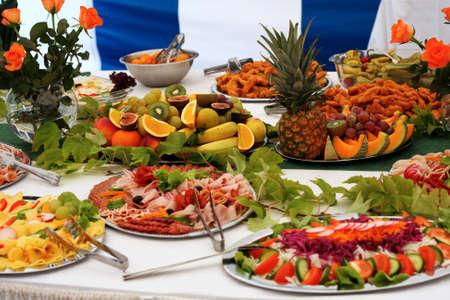 buffet food: Comida Foto de archivo