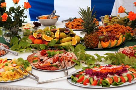 buffet: Voedsel Stockfoto