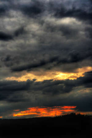 Dramatic sky after sunset Stock Photo - 4662973