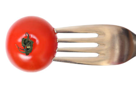 Tomato and fork photo