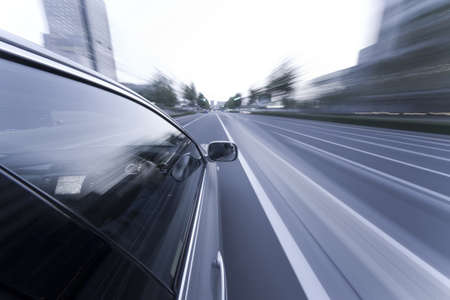 The car moves at great speed at the night Stock Photo - 6993674