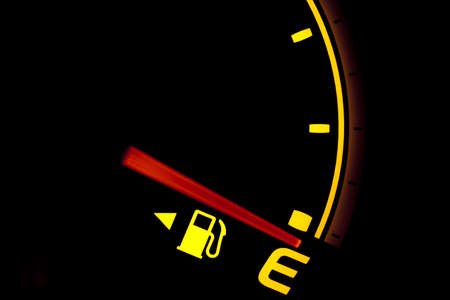 Fuel gauge showing and empty tank Stock Photo - 6993777