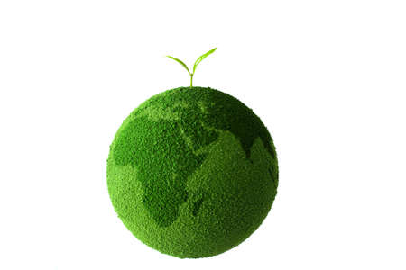 green world: Planet with tree and Sprout