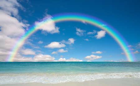 rainbow: plage