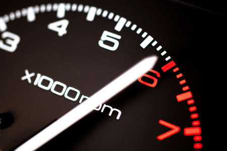 mph: Close up of car speed meter