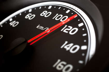speedometer: Close up of misuratore di velocit� di auto