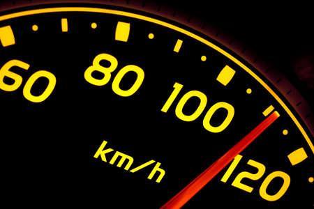 gas gauge: Close up of car speed meter