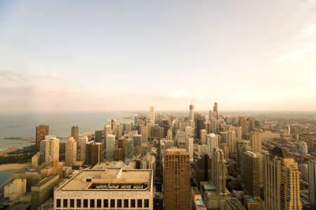 magnificent mile: Chicago at night Stock Photo