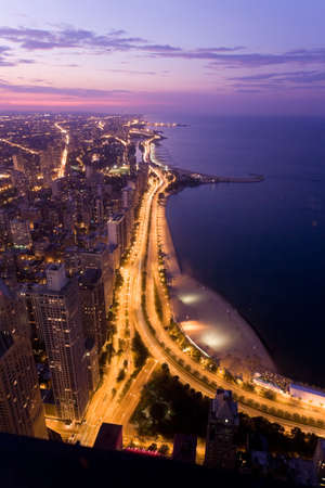the magnificent: Chicago at night Stock Photo
