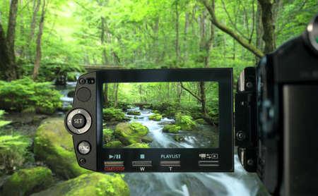 ビデオカメラで録画