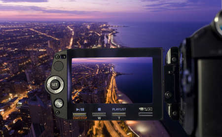 magnificent mile: Recording at camcorder