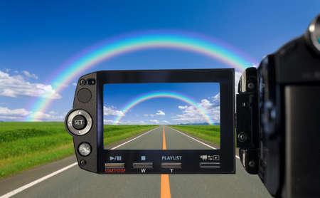 television camera: Recording at camcorder