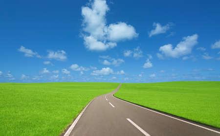 geraden Straße Standard-Bild