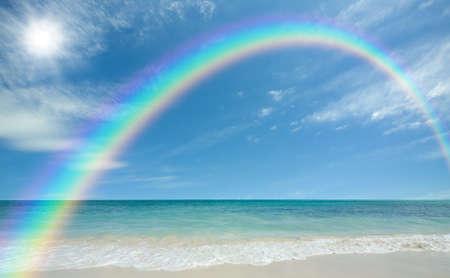 ビーチと太陽 写真素材