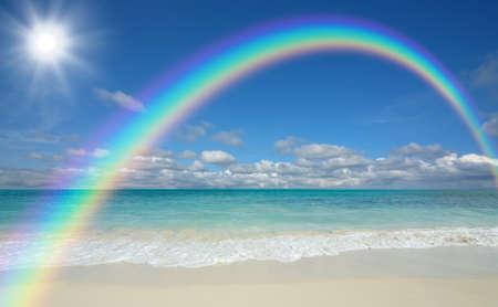 beach and sun 스톡 콘텐츠