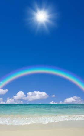 beach and sun 写真素材