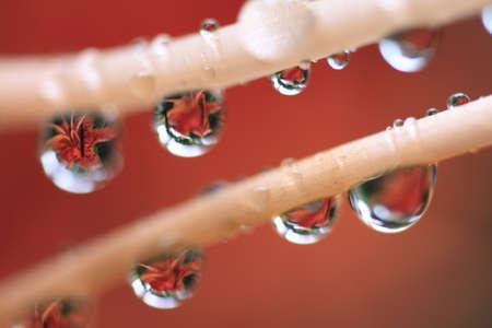 liquid reflect: droplets Stock Photo