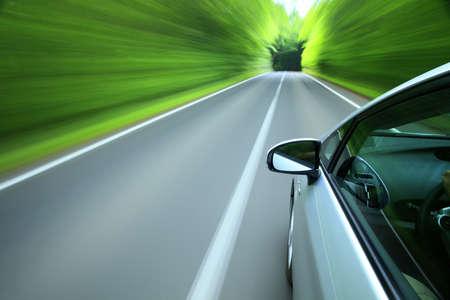 숲으로 운전 스톡 콘텐츠