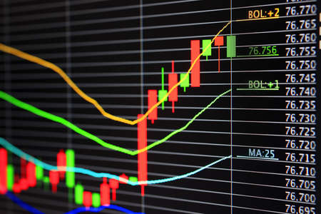 Foreign exchange market chart Stock Photo - 10945994