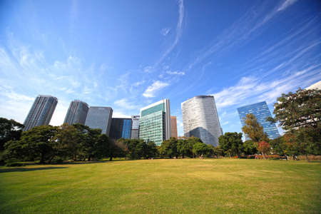 Hamarikyu gardens in Tokyo, Japan. 写真素材