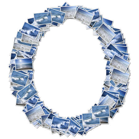 アルファベットのフォント、オーシア写真から作られました。