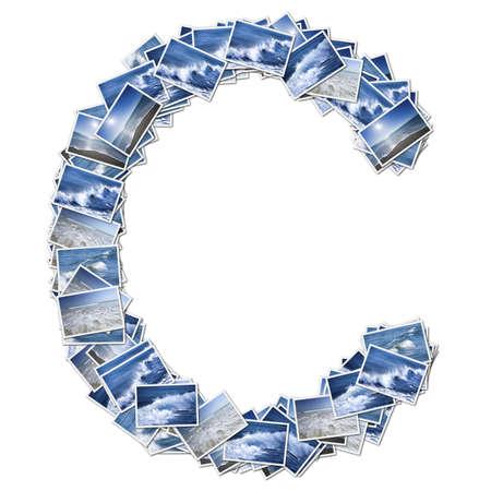 アルファベット オーシア フォント、オーシア写真から作られました。